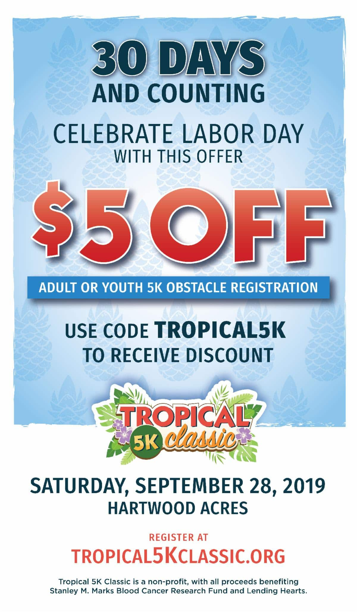 Tropical 5K Labor Day Special
